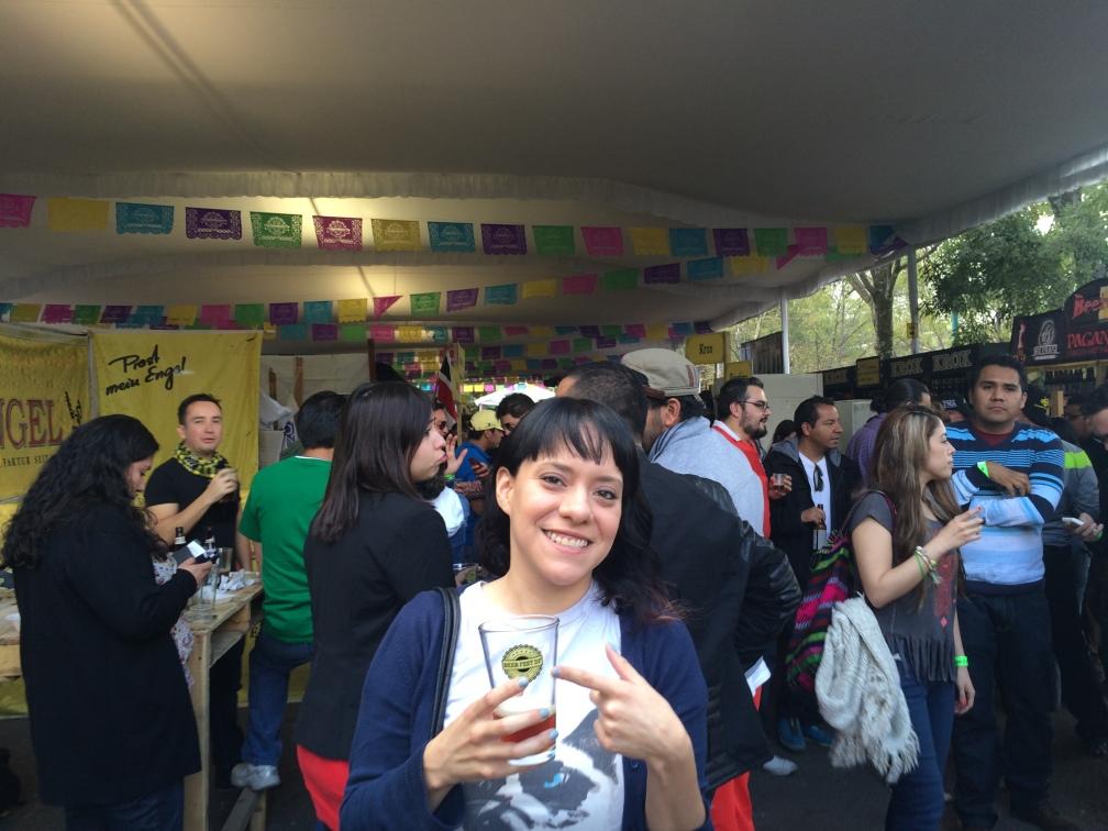 La autora en Beer Fest 2014